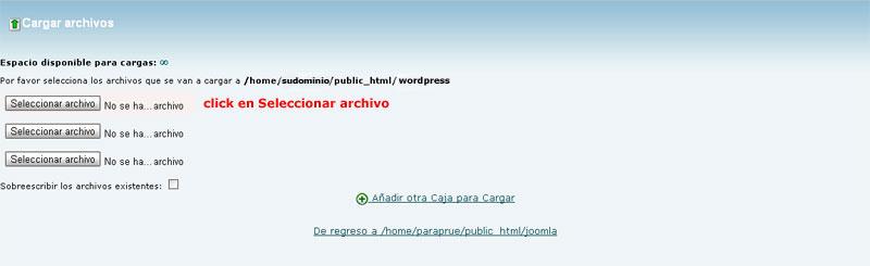 instalacion de wordpress